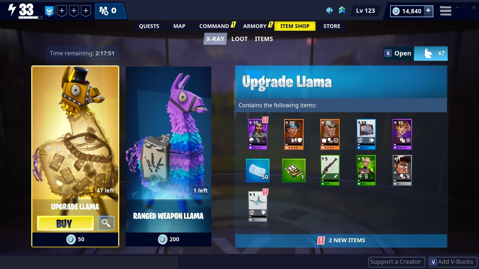 Fortnite: Save The World now lets you see what's in a loot box before you buy