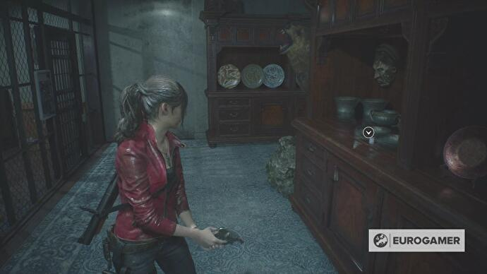 Resident Evil 2 - Chief's Office, Heart Key location • Eurogamer net