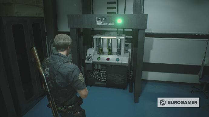 Resident Evil 2 - Drug Testing Lab puzzle solution, cooling