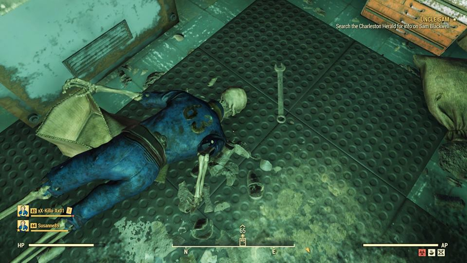 Fallout 76 unintentionally teleports player into restricted vault