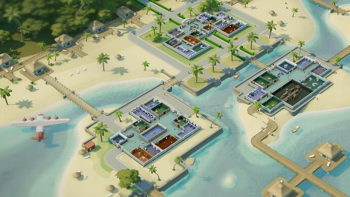 Two Point Hospital is going tropical in new DLC expansion Pebberley Island