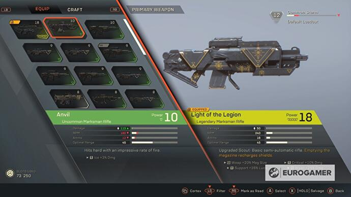 Anthem Masterwork and Legendary gear explained - Masterwork