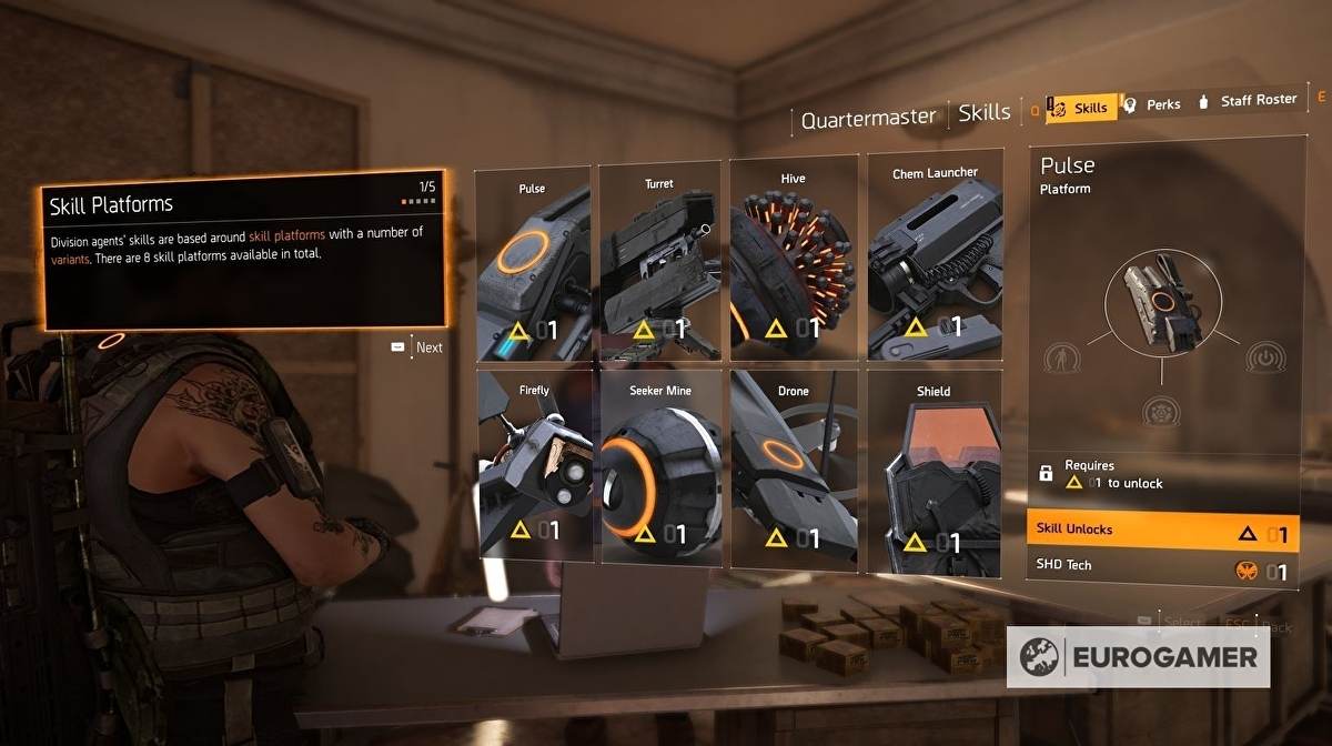 The Division 2 Skills and Perks - the best Skills and best
