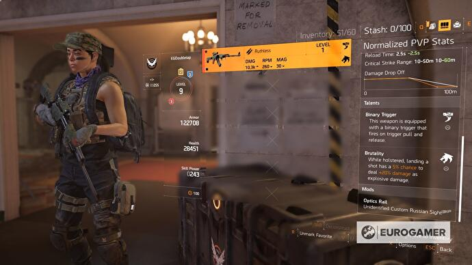 The Division 2 best weapons, damage stats and talents list