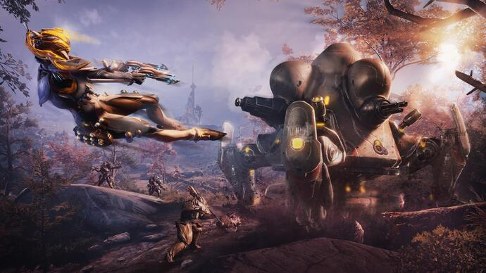 "Warframe's expansive Plains of Eidolon ""remaster"" out now on PC, on consoles soon"