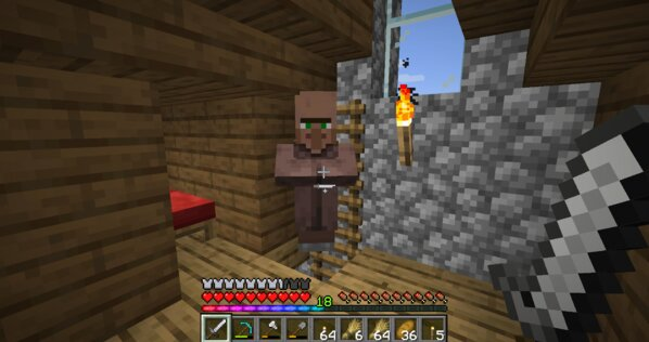 Nothing Can Stop Minecraft Villagers From Invading Player