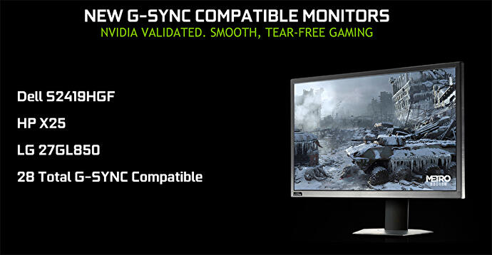 Nvidia announces new G-Sync Compatible monitors, bringing count to