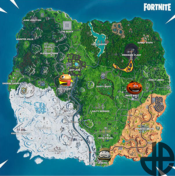 fortnite_season_9_tomato_head_durr_burger_dumpling_head_challenge_map
