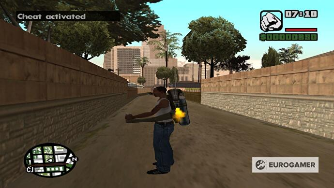 gun cheat code gta san andreas