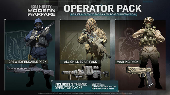 Modern Warfare editions, Operator Packs, release date and