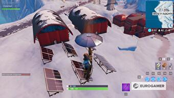 solar array in snow desert and jungle