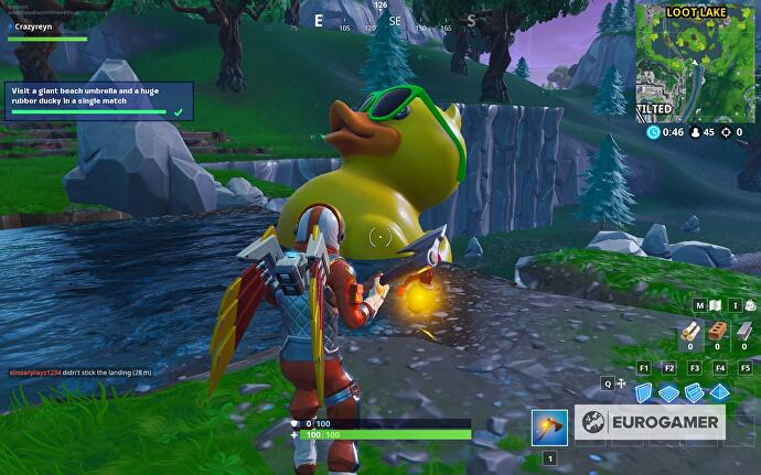 Fortnite rubber ducky locations: Where to find tiny and huge