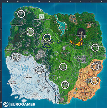 Groovy Fortnite Birthday Cake Locations Where To Find The 10 Birthday Funny Birthday Cards Online Aboleapandamsfinfo