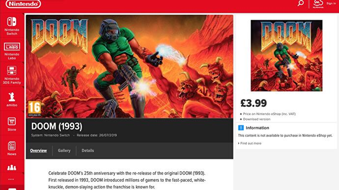id's original Doom trilogy appears on - and then vanishes