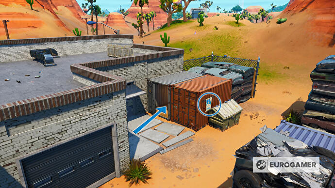 Fortnite_Season_10_Container_mit_Fenster_SO_von_Paradise_Palms_Prestigemission_Bunte_Ballerei