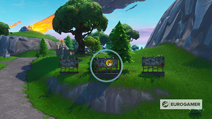 Fortnite_Season_10_Reklametafel_mit_Graffiti_SW_von_Salty_Springs_Prestigemission_Bunte_Ballerei