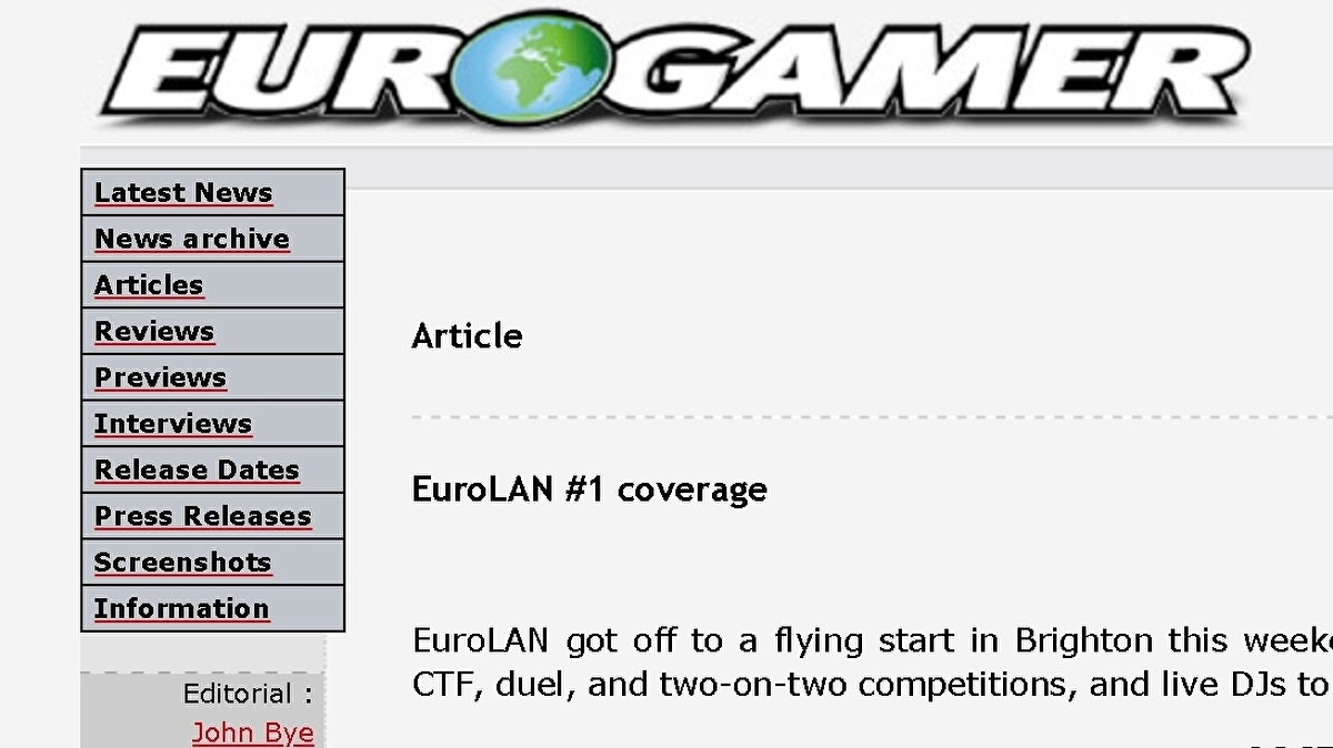 20 years in 20 Eurogamer articles - as they appeared at the time