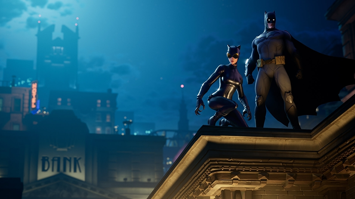 Batman has landed in Fortnite and Tilted Town has been transformed into Gotham City