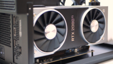 We carried out CPU gaming tests by removing Iris Plus from the equation, using an RTX 2080 Ti connected via a Razor Core Thunderbolt 3 eGPU enclosure.
