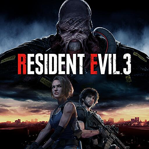 Resident Evil 3 remake artwork appears on the PSN