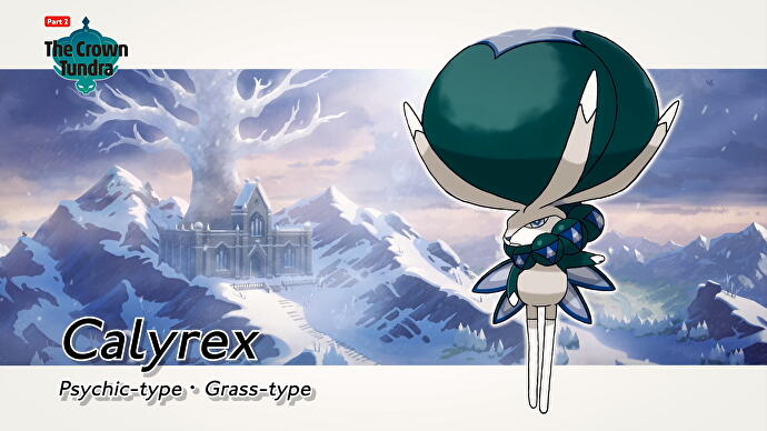 Pokémon Sword & Shield The Crown Tundra pokémon lendário Calyrex