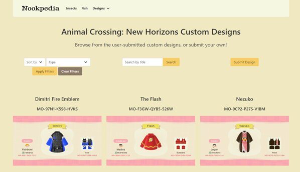 Fan Made Animal Crossing Site Makes Sharing Designs Easy