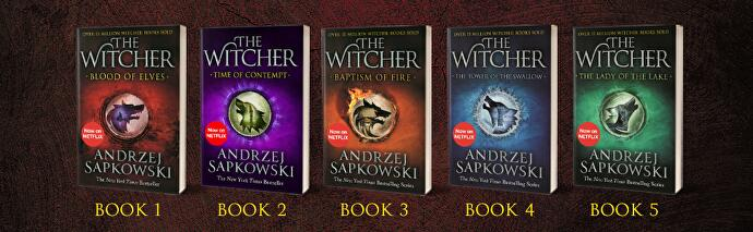 The Witcher books are just £5 each