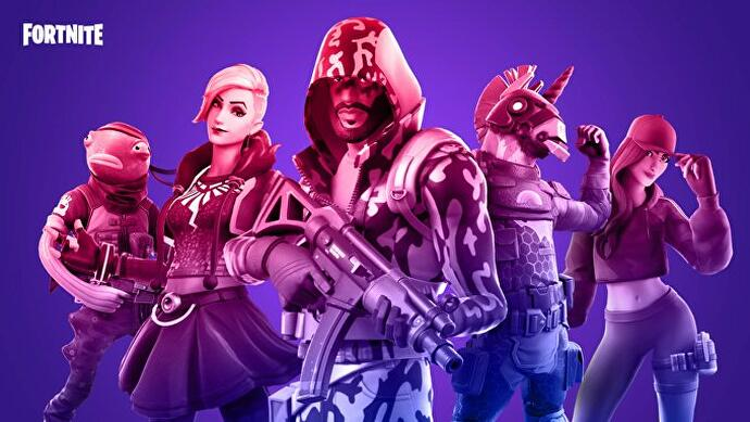 Some Fortnite characters line up