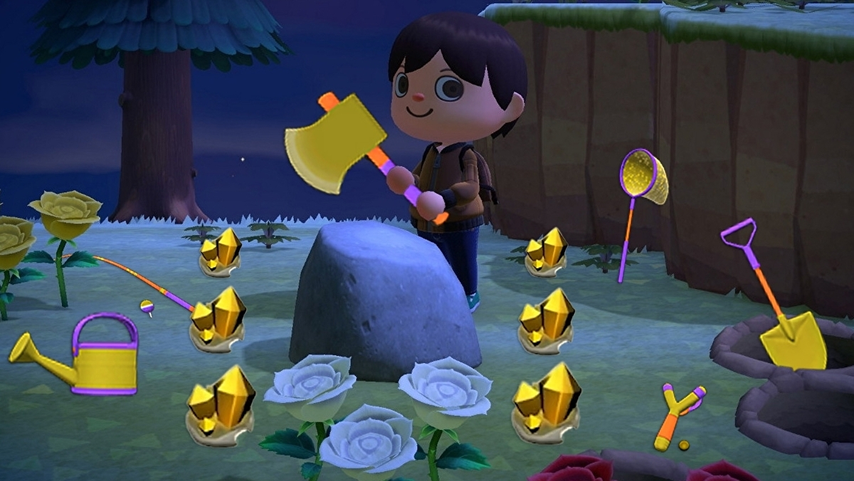 Animal Crossing New Horizons Golderz Und Gold Werkzeuge