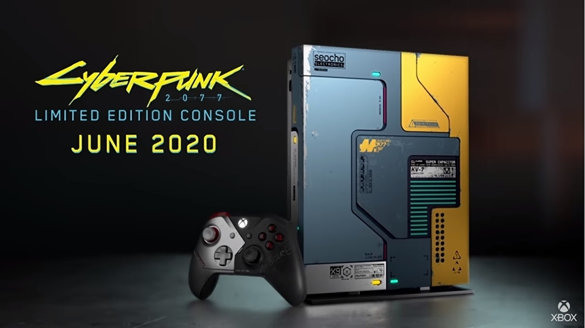 The Cyberpunk 2077 limited edition Xbox One X glows in the dark