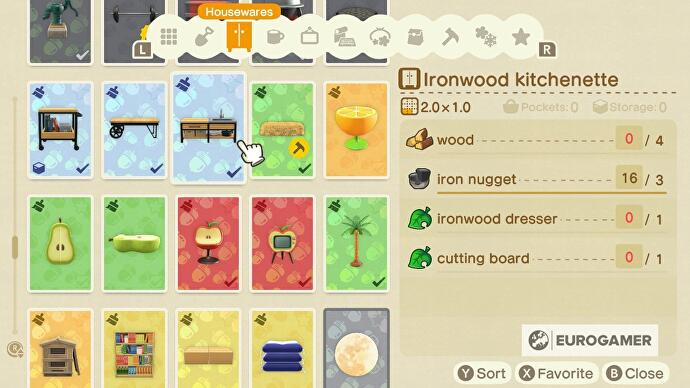 Animal Crossing kitchen furniture: How to design a kitchen ... on Ironwood Furniture Animal Crossing  id=38751