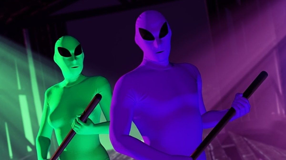 Rockstar fuels GTA Online's player-driven Alien War with free green and purple bodysuits