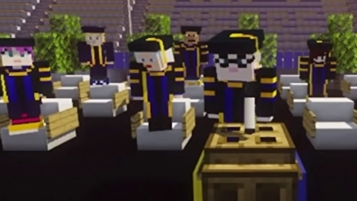 University students graduate in official Minecraft ceremony