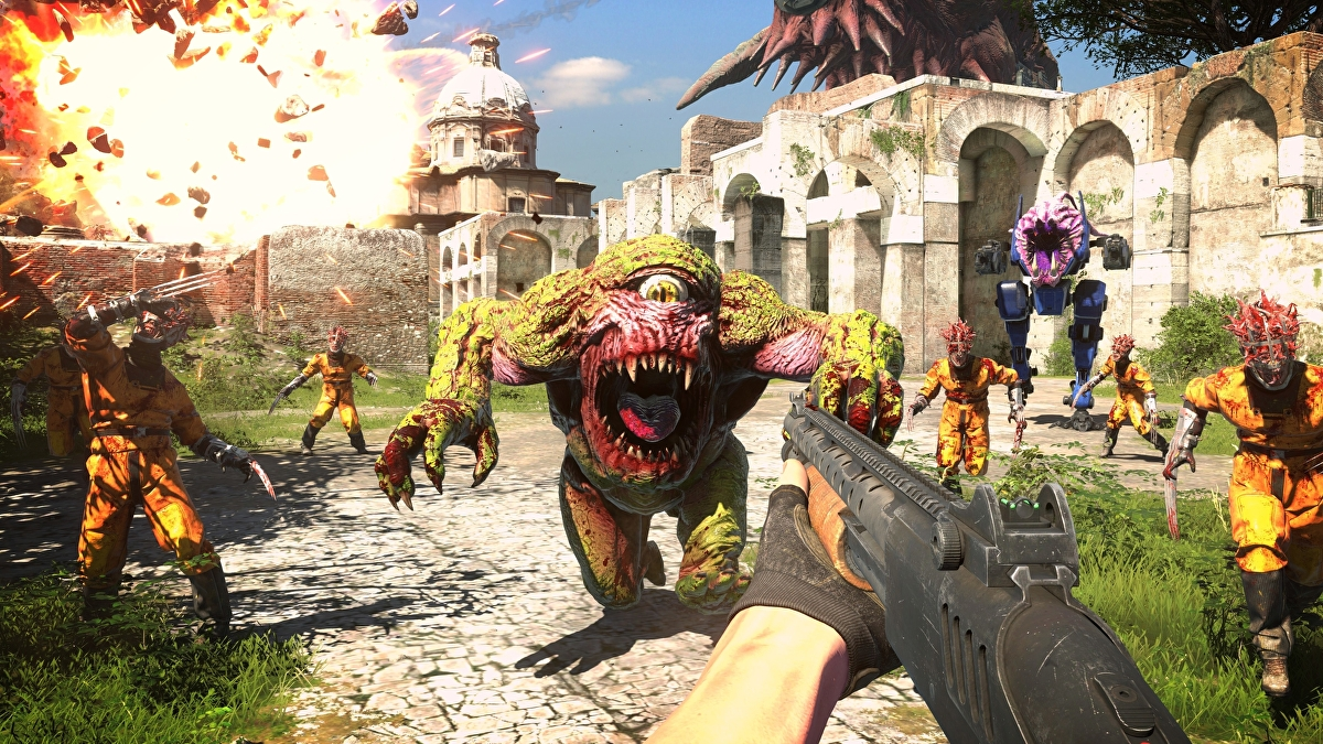 """New Serious Sam 4 gameplay shows """"thousands"""" of enemies on the battlefield"""