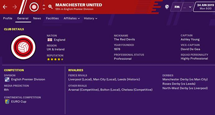 Manchester United files suit against Football Manager for using his name