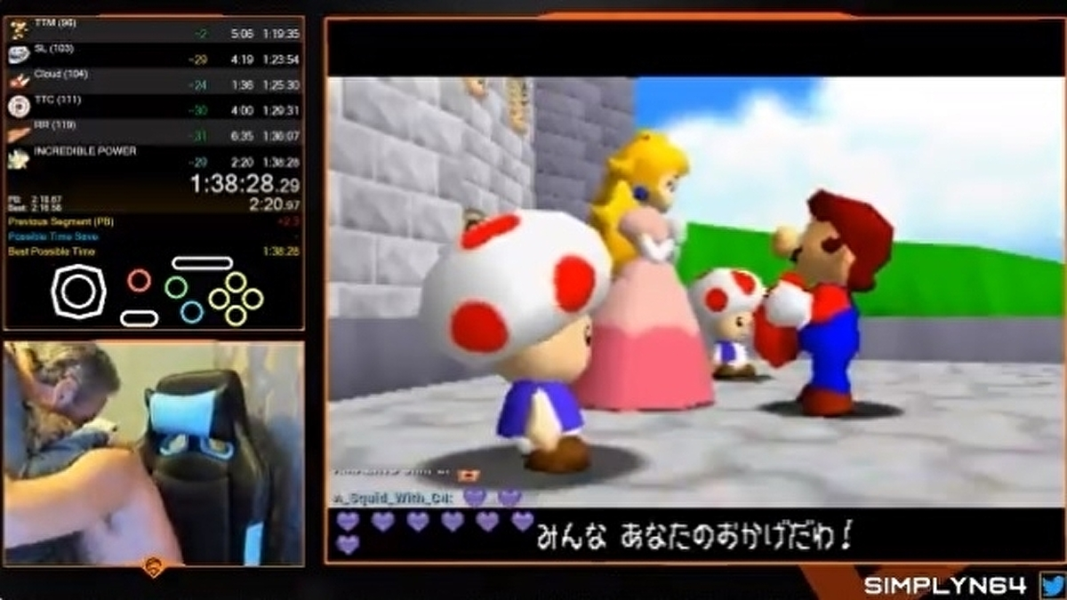 Watch the wholesome moment this Super Mario 64 speedrunner broke the world record after eight years of trying 1