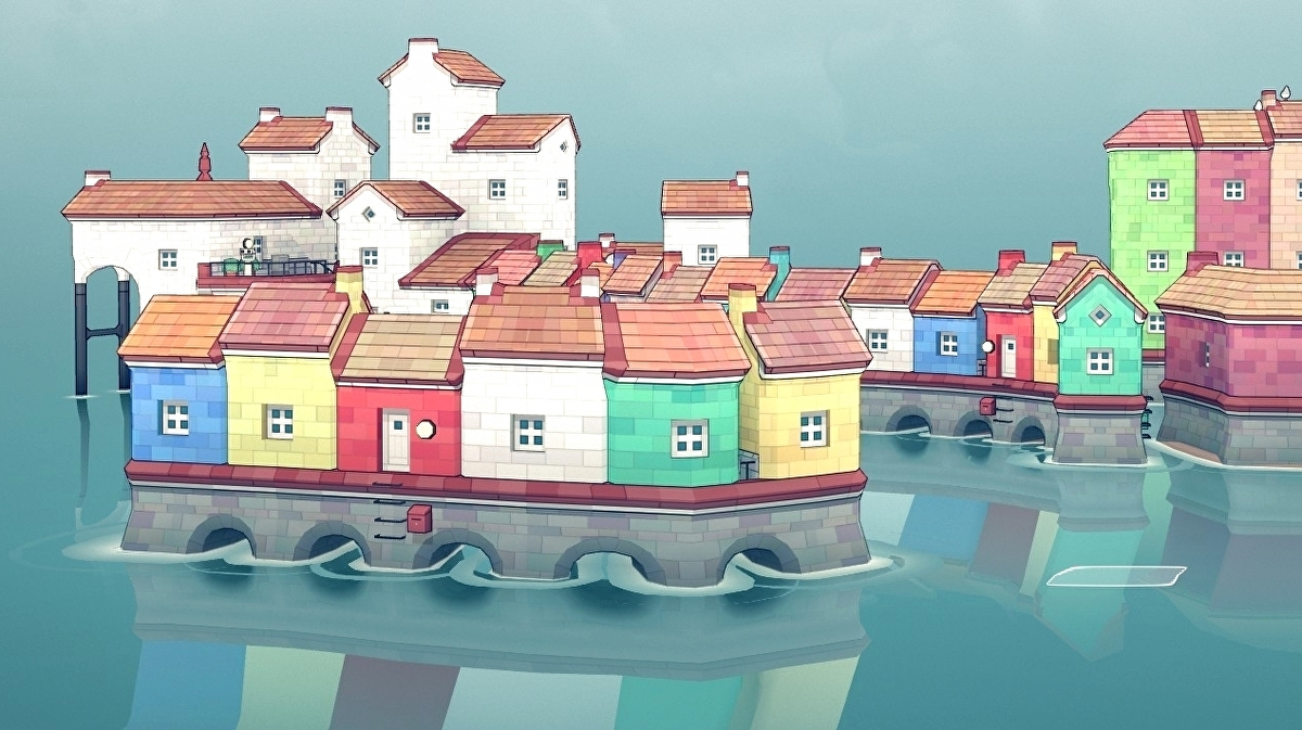 The joy of sculpting beautiful little towns in Townscaper