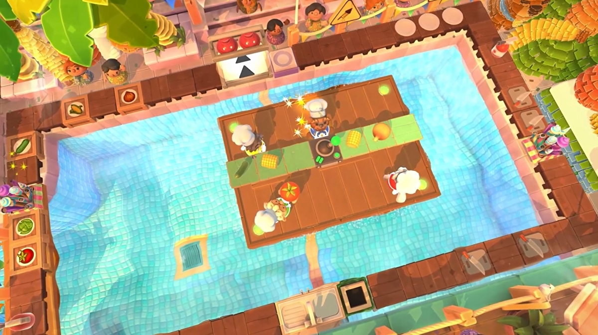 Overcooked 2's next DLC, Sun's Out Buns Out, is free and out later this month