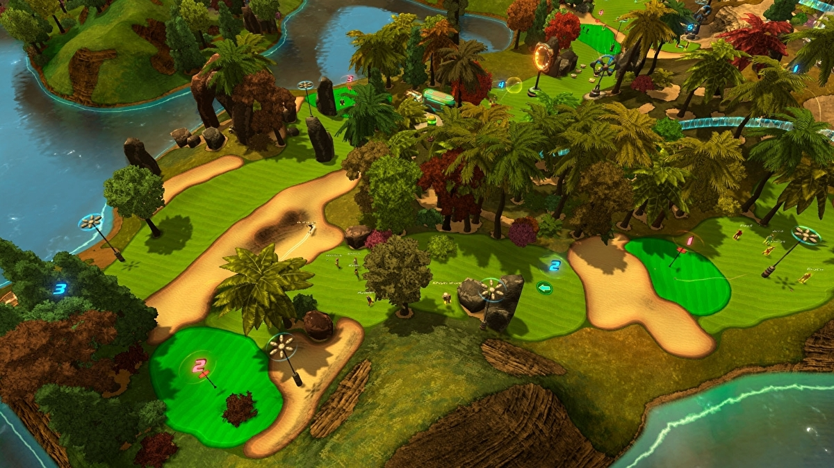 Daft sci-fi golf resort management sim GolfTopia enters Steam early access next week