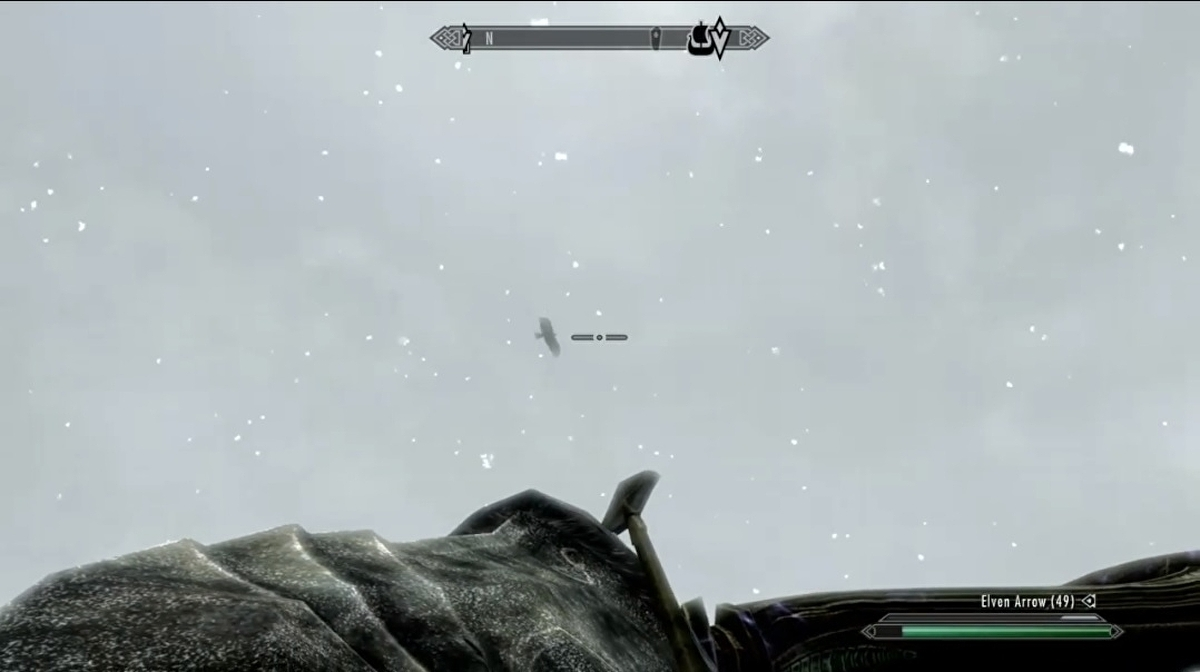 Nine years of playing Skyrim, and I had no idea you could shoot birds out of the sky 1