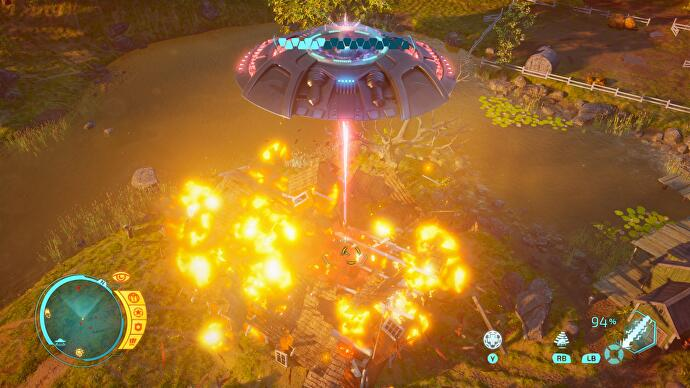 Destroy All Humans Test UFO Angriff