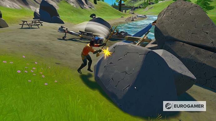 Fortnite_Season_3_Sammle_Stein_bei_Rapids_Rast_2