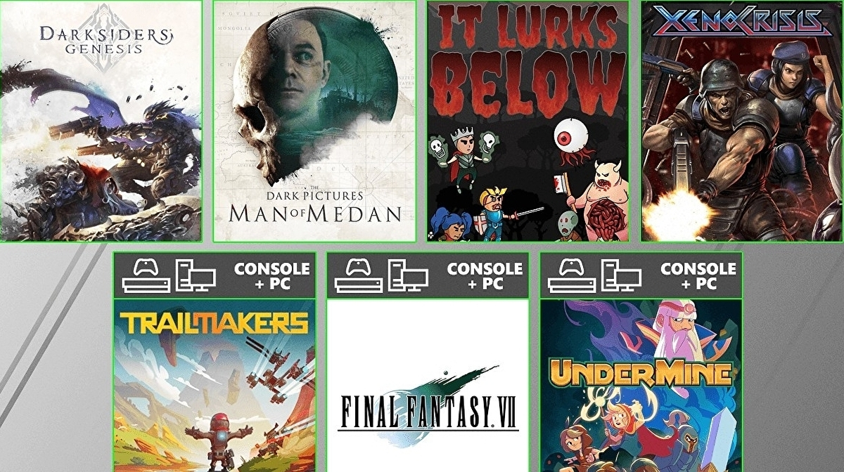 August's Game Pass offerings include Final Fantasy 7 HD and Man of Medan 1