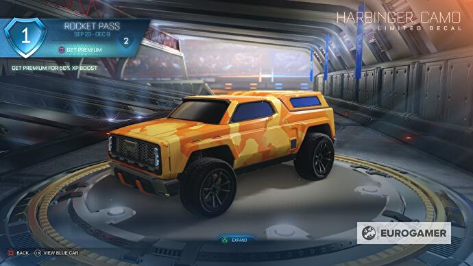 Rocket League Season 1 Rocket Pass Cars Wheels And Other Rewards Including Level 70 Harbinger Gxt Samagame