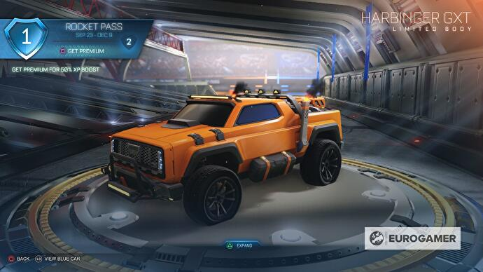Rocket League Temporada 1 Rocket Pass carros, rodas e outras recompensas,  incluindo nível 70 Harbinger GXT – SAMAGAME