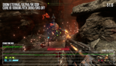 Using DSR isn't really good for benchmarking, but it's clear that Doom Eternal at ultra at 8K requires users to engage dynamic resolution scaling for a smoother experience.