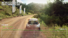 With only minor drops, Dirt Rally 2.0 at 8K on high settings achieves something very close to a locked 60fps.