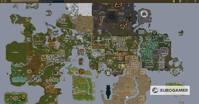 Part of the RuneScape 3 map