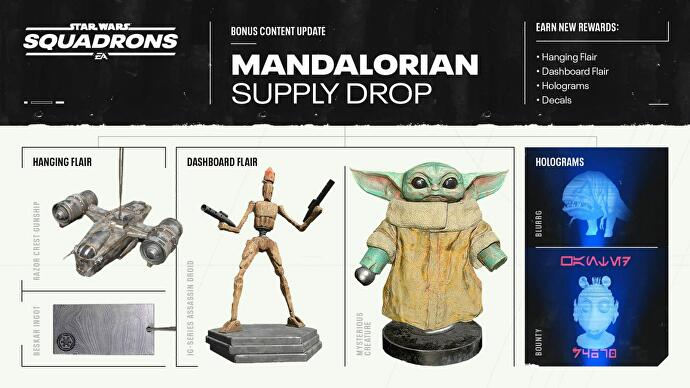 You can stick Baby Yoda on your Star Wars: Squadrons dashboard later this week