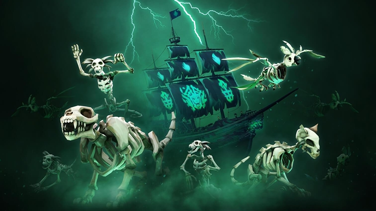Sea of Thieves' Fate of the Damned update adds spooky voyages, new skeletal pets, more